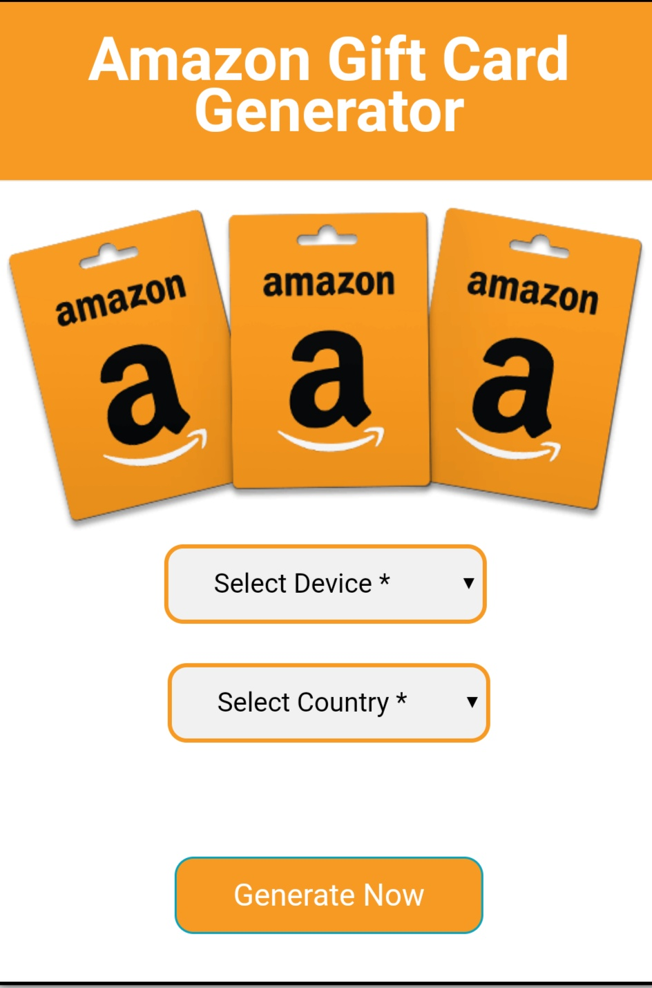free gift code generator com amazon