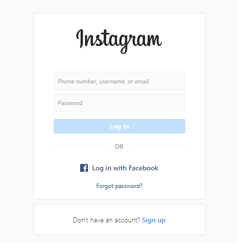 Login to your Instagram account