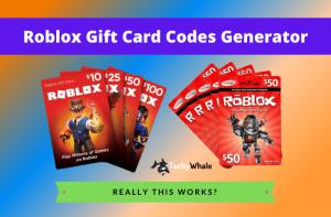 Roblox Gift Card Generator