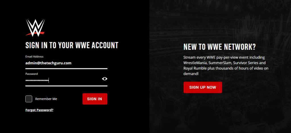 Network logout wwe Free WWE