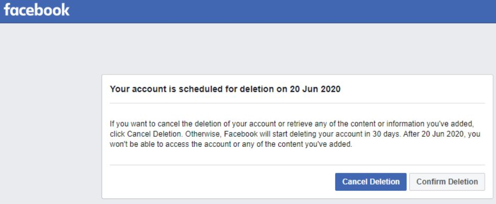 Recover Deleted Facebook Account